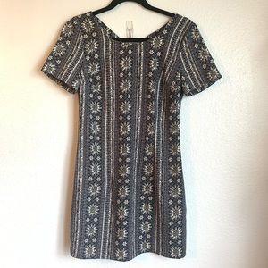 Hollister Floral Print Short Sleeve Mini Dress Sm